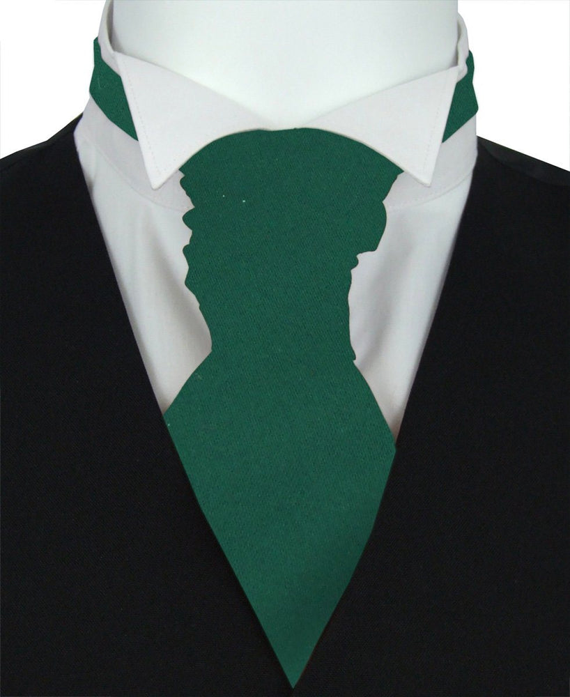 Pine Green Boys Pre-Tied Wedding Cravat - Wedding