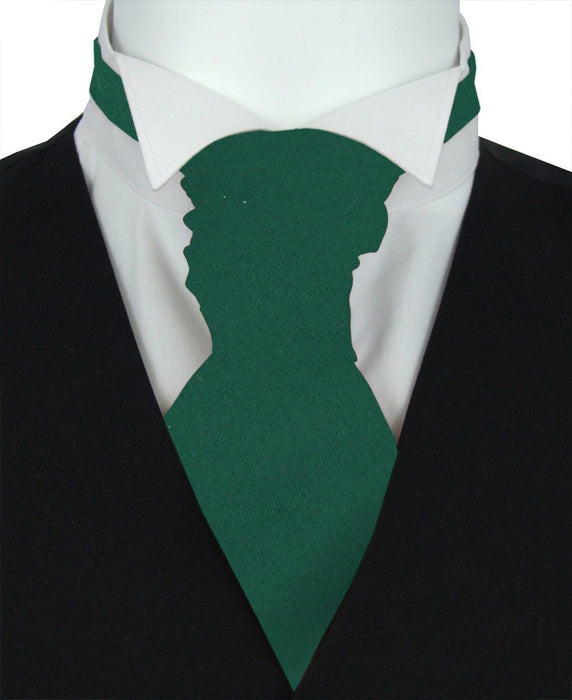Pine Green Pre-Tied Wedding Cravat - Wedding