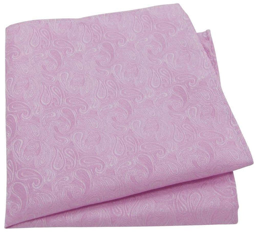 Pink Paisley Pocket Square - Wedding