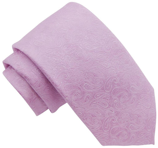 Pink Paisley Wedding Tie - Wedding