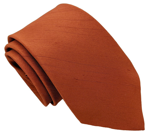 Rust Shantung Wedding Ties