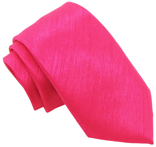 Hot Pink Shantung Wedding Ties