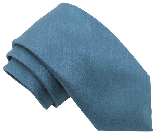 Slate Blue Shantung Wedding Ties
