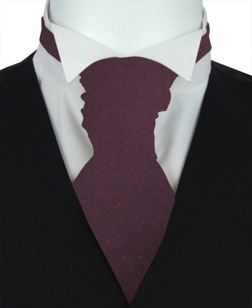 Plum Boys Pre-Tied Wedding Cravat - Childrenswear