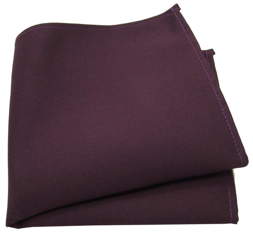 Plum Pocket Square - Wedding