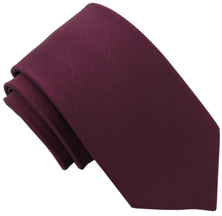 Plum Silk Wedding Tie - Wedding