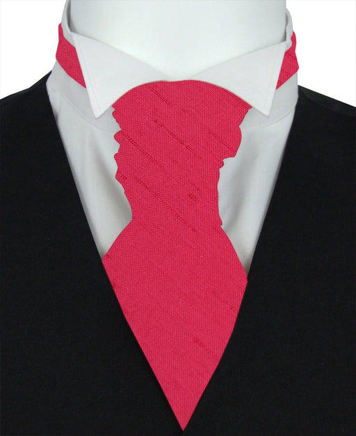 Pomegranate Shantung Pre-Tied Wedding Cravat - Wedding