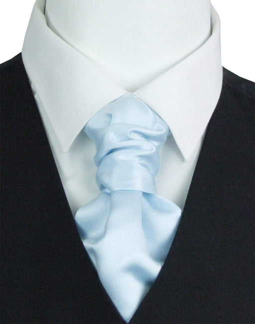 Powder Blue Pre-Tied Wedding Cravat - Wedding