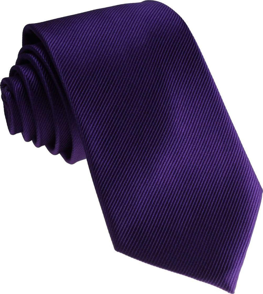 Purple Silk Wedding Tie - Wedding