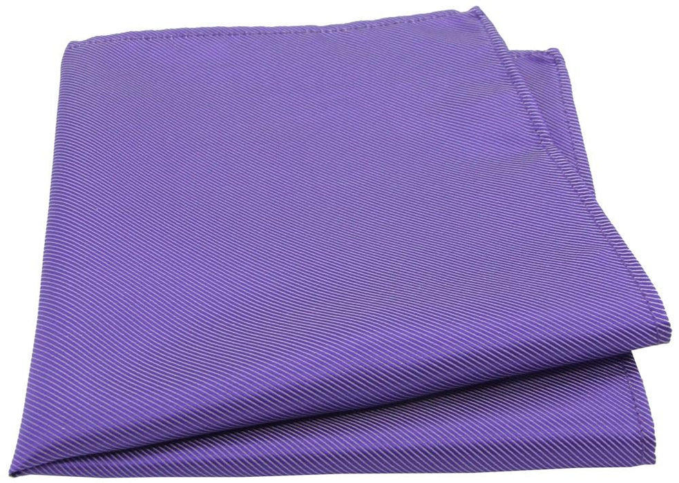 Purple Twill Pocket Square - Wedding