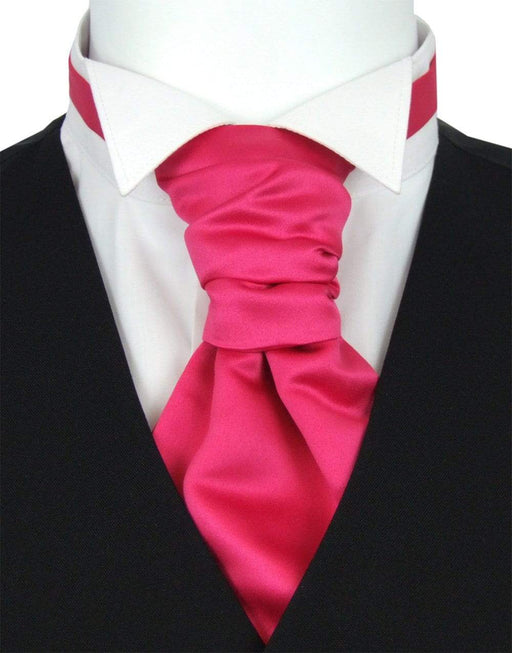 Raspberry Boys Pre-Tied Wedding Cravat - Childrenswear