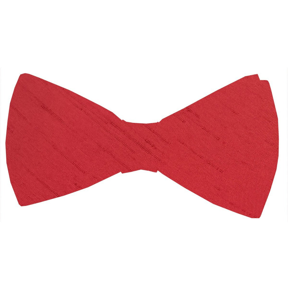 Red Shantung Bow Tie - Wedding