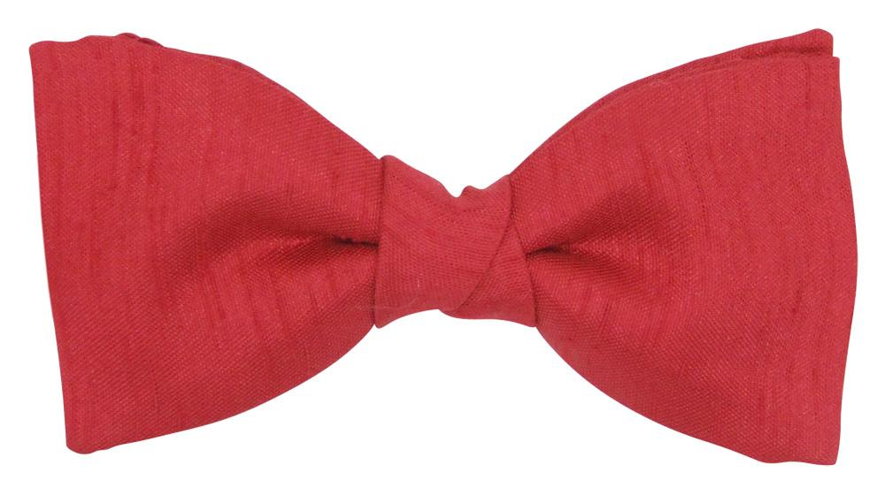 Red Shantung Boys Bow Tie - Childrenswear