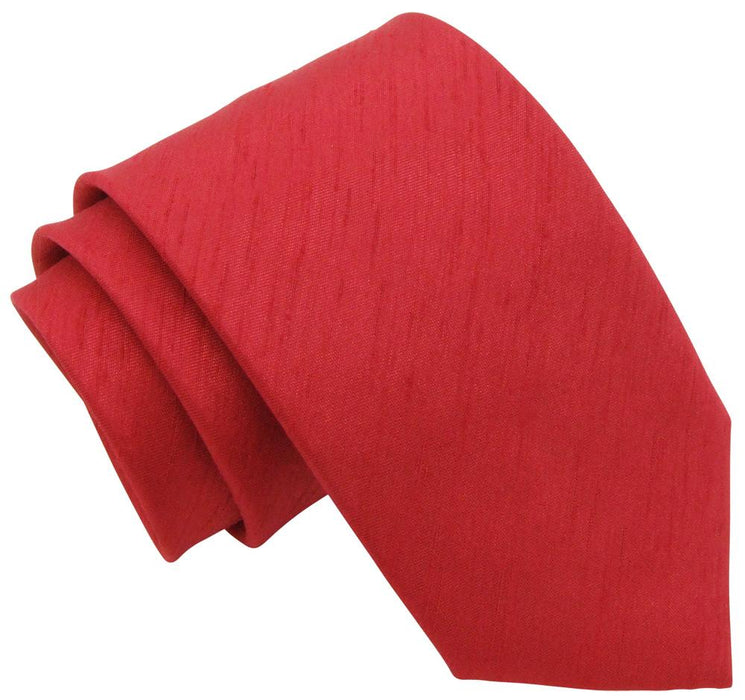 Red Shantung Wedding Tie - Wedding