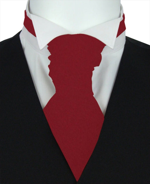 Redcurrant Pre-Tied Wedding Cravat - Wedding