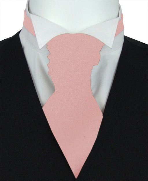 Rose Gold Boys Pre-Tied Wedding Cravat - Childrenswear