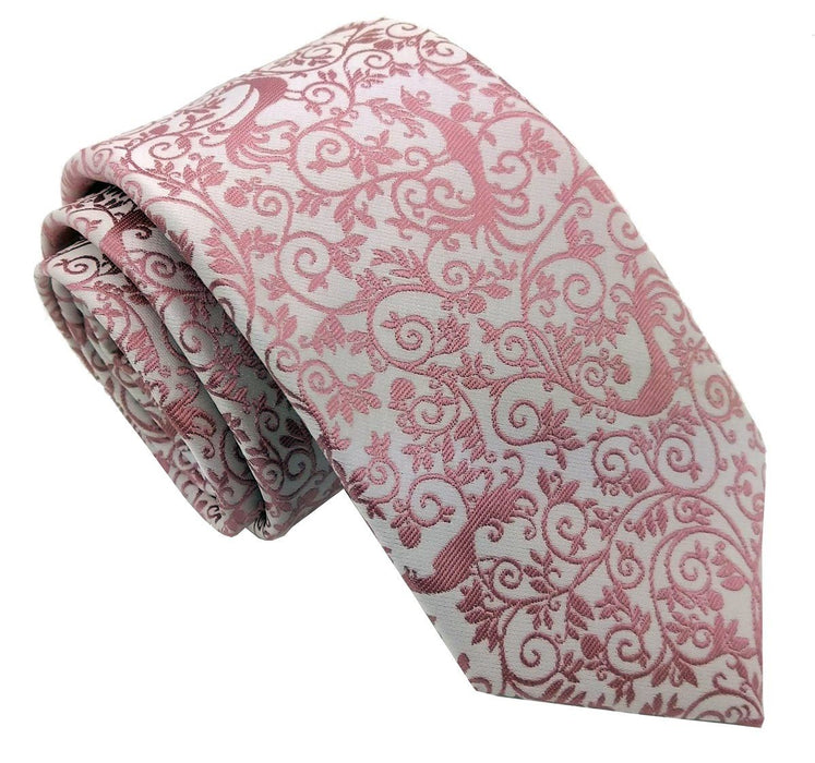 Rose Peacock Wedding Tie - Wedding