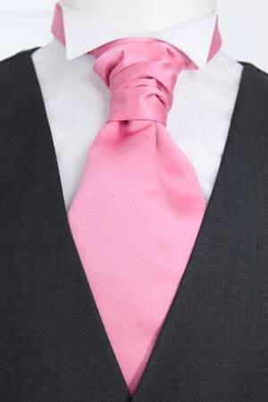 Rose Pink Pre-Tied Wedding Cravat - Wedding