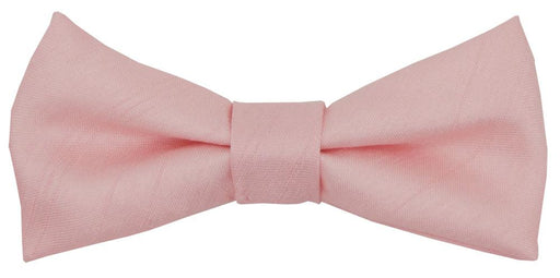 Rose Quartz Shantung Boys Bow Tie - Childrenswear