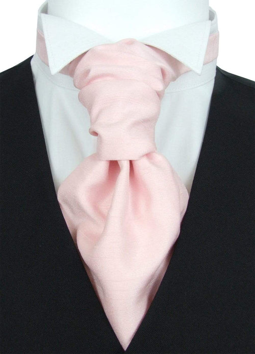 Rose Quartz Shantung Boys Pre-Tied Wedding Cravat - Childrenswear