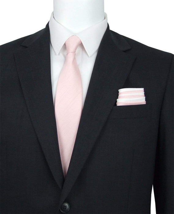 Rose Quartz Shantung Wedding Tie - Wedding