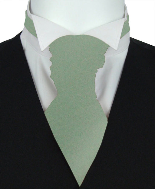 Sage Pre-Tied Wedding Cravat - Wedding
