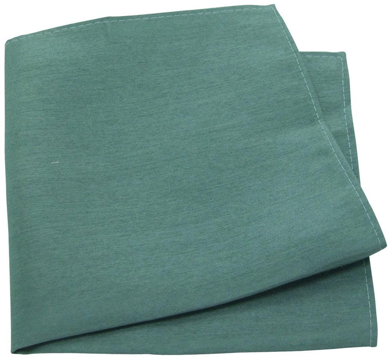 Sage Shantung Pocket Square -