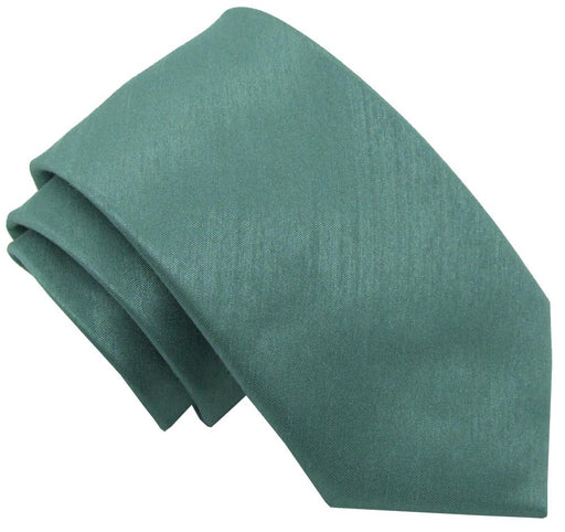 Sage Shantung Wedding Tie - Wedding