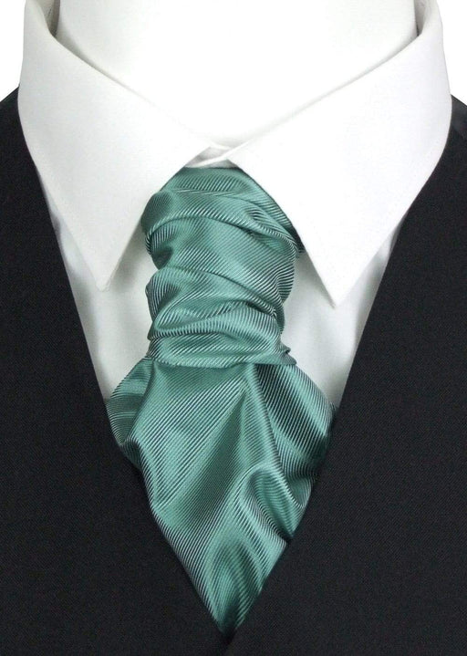 Sage Twill Pre-Tied Boys Wedding Cravat - Childrenswear