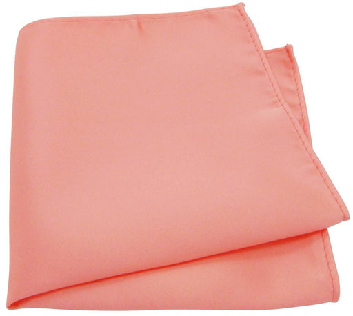 Salmon Peach Pocket Square - Wedding