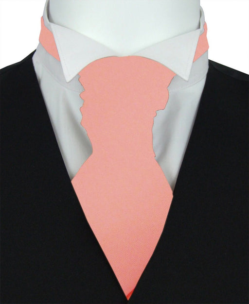 Salmon Peach Pre-Tied Wedding Cravat - Wedding