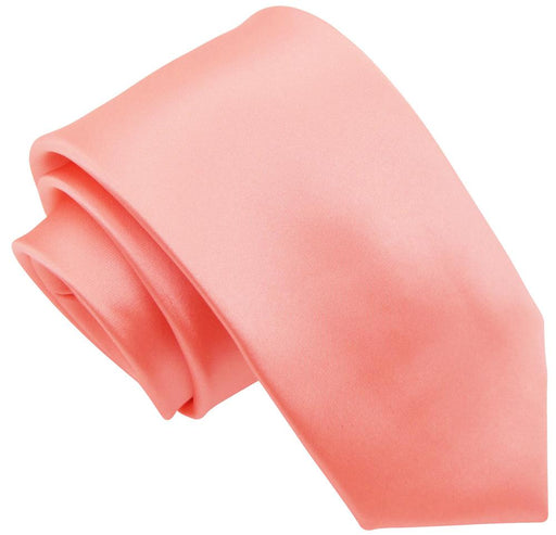 Salmon Peach Wedding Tie - Wedding