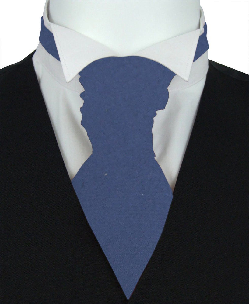 Sapphire Blue Boys Pre-Tied Wedding Cravat - Wedding
