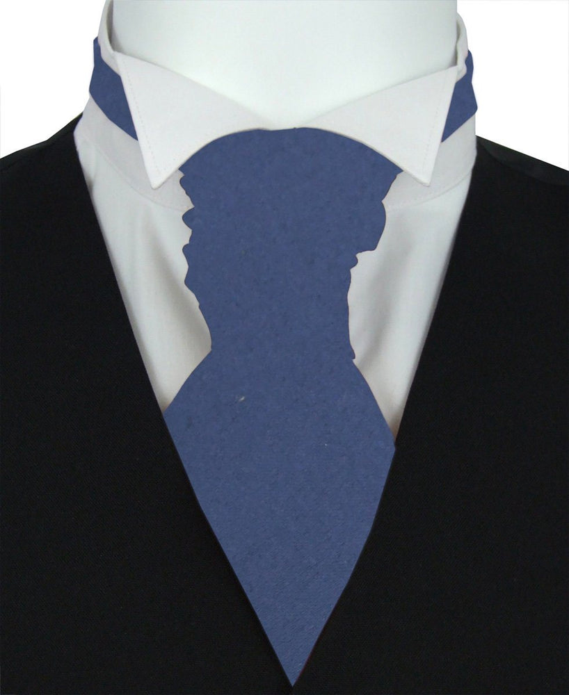 Sapphire Blue Pre-Tied Wedding Cravat - Wedding