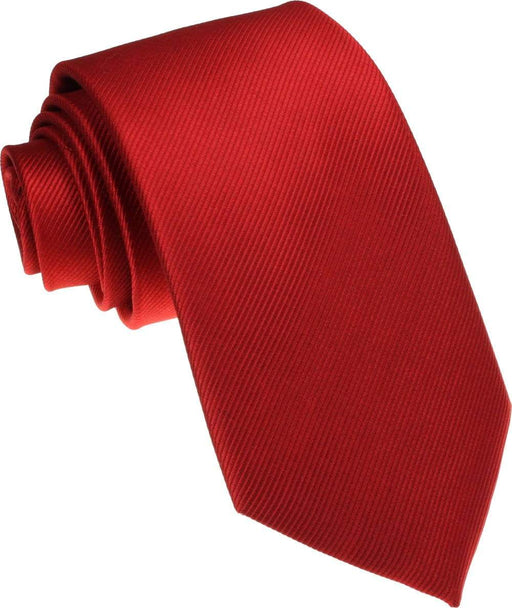 Scarlet Red Silk Wedding Tie - Wedding
