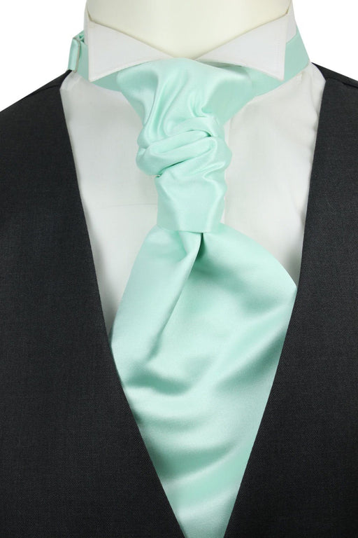 Seafoam Green Pre-Tied Wedding Cravat - Wedding