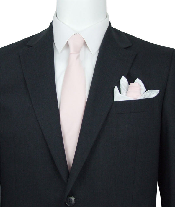 Shell Pink Pocket Square - Wedding