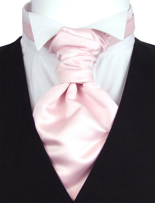 Shell Pink Pre-Tied Wedding Cravat - Wedding