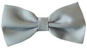 Silver Grey Bow Tie - Wedding
