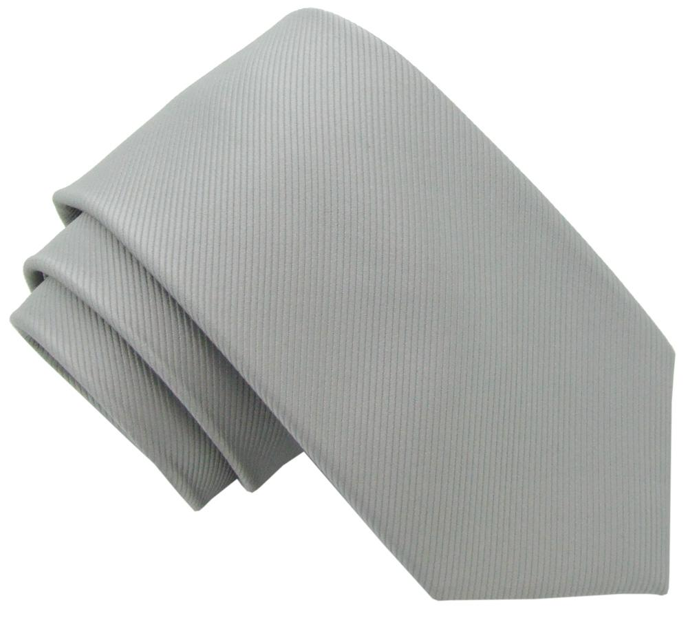 Silver Grey Silk Wedding Tie - Wedding