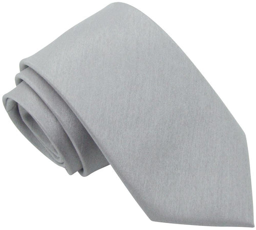 Silver Moon Shantung Boys Tie - Childrenswear