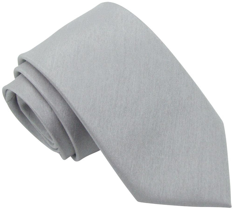 Silver Moon Shantung Skinny Wedding Tie - Wedding