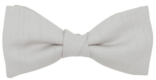 Silver Shantung Boys Bow Tie - Childrenswear