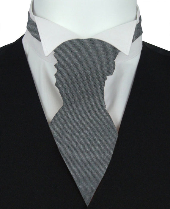 Slate Shantung Pre-Tied Wedding Cravat - Wedding