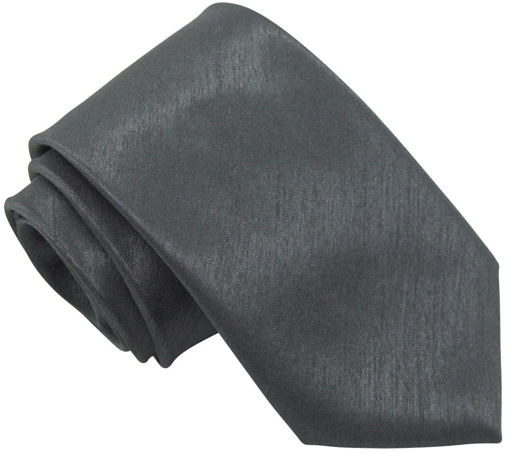 Slate Shantung Skinny Wedding Tie - Wedding
