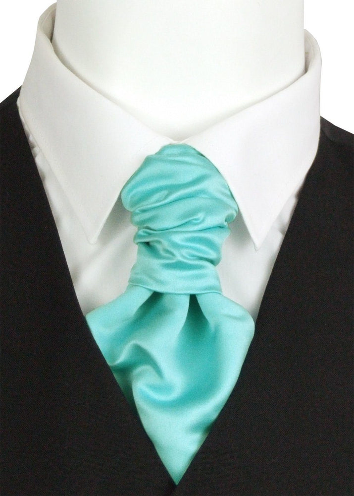 Spearmint Pre-Tied Boys Wedding Cravat - Childrenswear