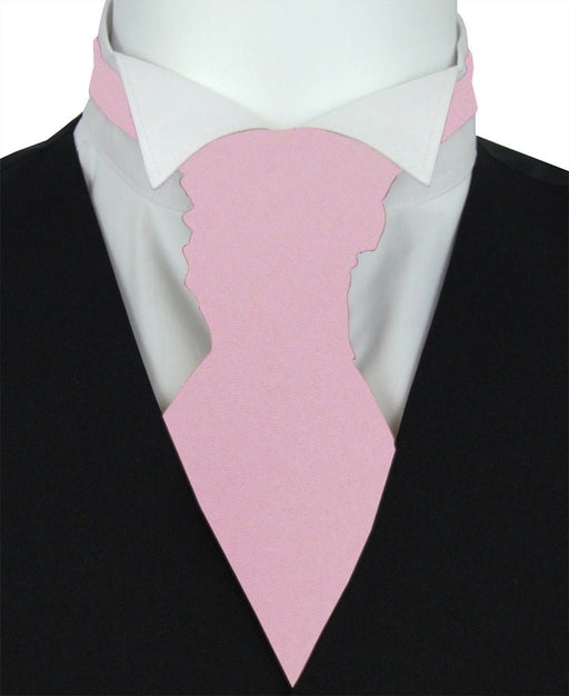 Suede Pink Boys Pre-Tied Wedding Cravat - Childrenswear