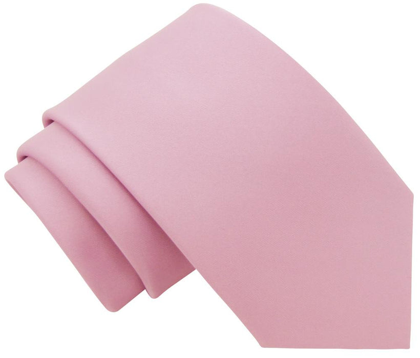 Suede Pink Boys Tie - Childrenswear