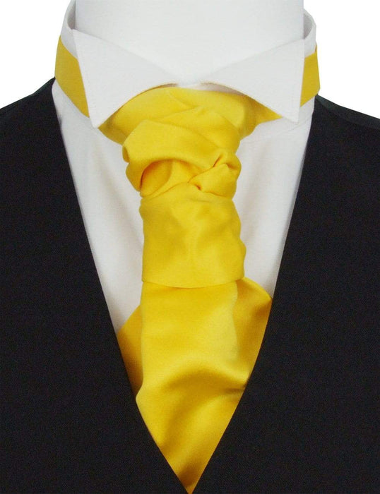 Sunflower Pre-Tied Wedding Cravat - Wedding