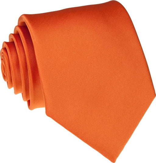 Tangerine Skinny Wedding Tie - Wedding